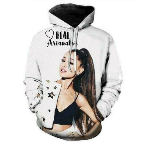 Ariana Grande 3D Print MensWomens Hoodie Sweater Sweatshirt Jacket Pullover Tops