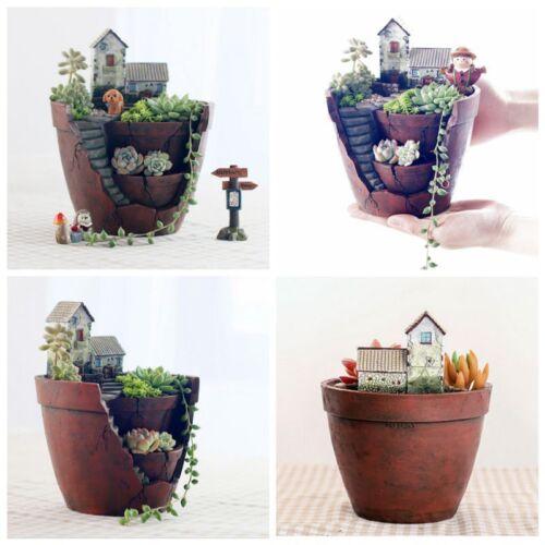 Sky Garden Planter Herb Flower Succulent Cactus Plant Resin Pot Box Container UK