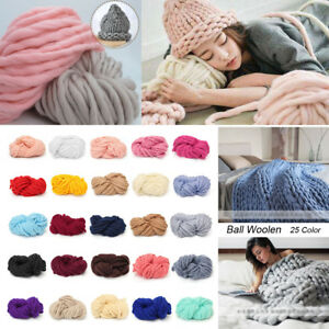 250g-Chunky-Bulky-Wool-Yarn-Giant-Ball-Extreme-Knitting-Hand-DIY-Hat-Scarf-Gift
