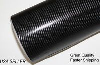 4d Top Grade Black Carbon Fiber Vinyl 23.5 X 60 Wrap Bubble Free Air Release