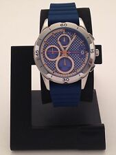 FOSSIL WOMEN'S MODERN PURSUIT BLUE CHRONOGRAPH WATCH WITH SILICON BAND ES3982