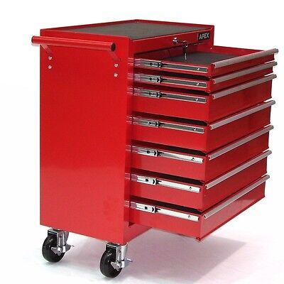 06193 Chariot d'atelier 7 tiroirs à outils servante caisse à roulettes rouge