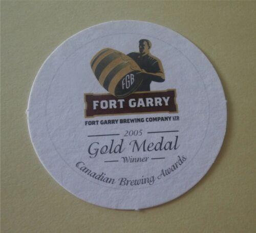Winnipeg Manitoba Canada Beer Coaster Fort Garry Brewing Co Gold Medal Winner