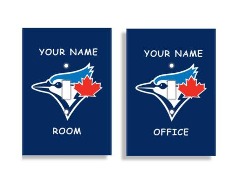 Personnalisé Blue Jays de Toronto Interrupteur De Lumière Couvre MLB Baseball Home Decor