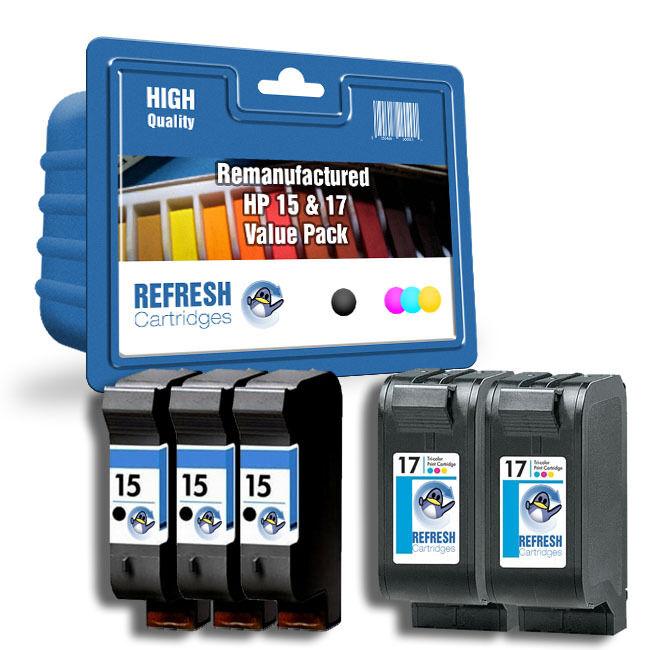 Refresh Kartuschen  15    17 3 X Schwarz   2 X Col - 5pk Tinte Kompatibel mit Hp | Zürich  1dfc45