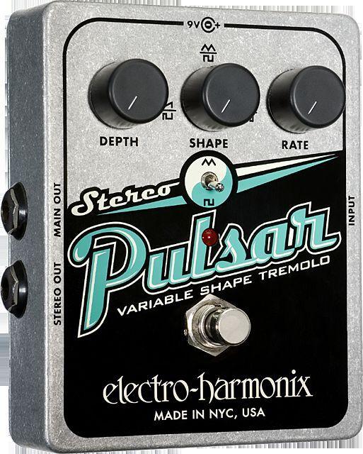 EHX Electro Harmonix Stereo Pulsar Pulsar Stereo Variable forma trémolo Guitarra Fx Pedal Analog 389eaf