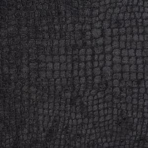 A0151r Black Textured Alligator Shiny Woven Velvet Upholstery Fabric