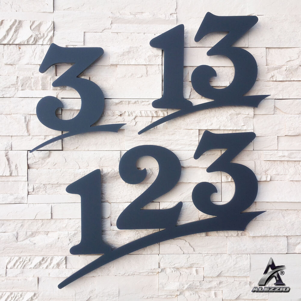 Hausnummer aus Plexiglas Anthrazitgrau wie RAL7016, 6mm Stark ,16cm,20cm,30cm | Guter Markt  | Mittlere Kosten  | Um Sowohl Die Qualität Der Zähigkeit Und Härte