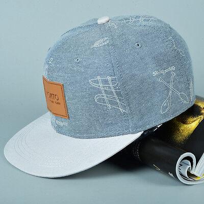 Denim Snapback Hats Unisex Men's Women Hip-Hop adjustable bboy Baseball Cap