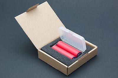 2x Panasonic / Sanyo NCR18650GA 3500mAh 10A 3.7v Li-ion Battery High Drain Japan