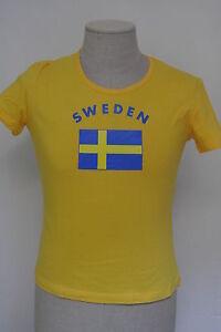 Schweden-Sweden-Girlie-Fun-Shirt-Fasching-Mallorca-Funshirt-Fussball-WM-EM-Shirt