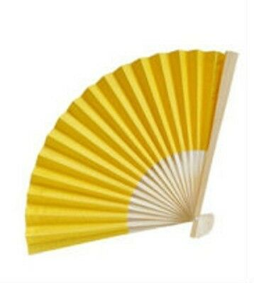 52 YELLOW Paper Fans Outdoor Wedding Favors