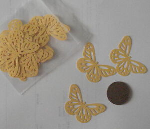 20-yellow-pearlescent-Butterfly-Shapes-Table-Confetti-Cards-Weddings-etc