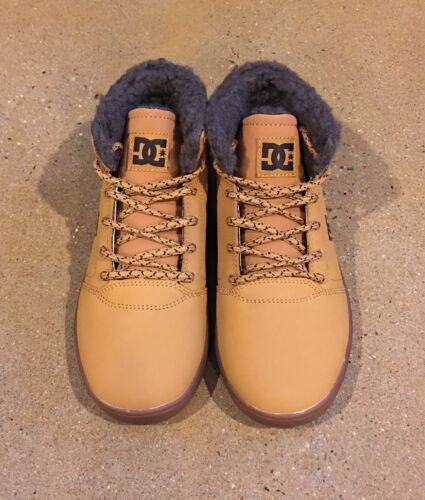 DC Crisis High WNT Youth Size 3 US Wheat DK Chocolate BMX Skate Shoes Sneakers