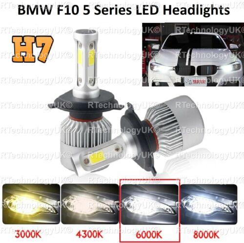 Premium BMW F10 serie 5 H7 Faros LED blanco hielo 72W 6000K haz de cruce