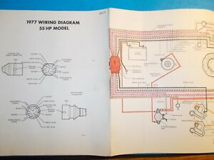 1977 JOHNSON OUTBOARD MOTORS 55HP MODEL WIRING DIAGRAM | eBay
