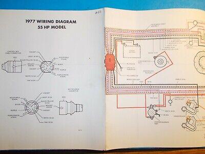 1977 JOHNSON OUTBOARD MOTORS 55HP MODEL WIRING DIAGRAM   eBay