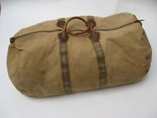 Vintage BEAN LL Bean Canvas and Leather Duffle Bag 26 X 15 X 13