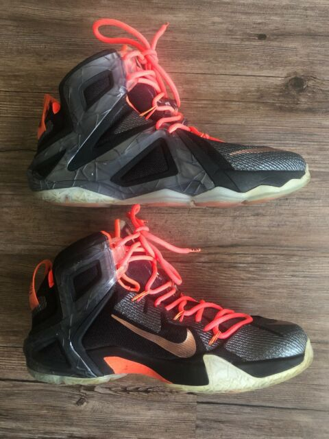 cheap for discount 20ec7 46685 Rare 2015 Nike LeBron XII Elite 12 Series Black Rose Gold Shoes Sz 9  724559-091