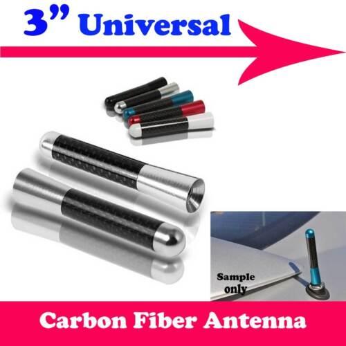 "3/"" Stubby Carbon Fiber Aluminum Short Antenna Silver Screws For BENZ SMART"