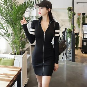 4a67f561e4 Image is loading Women-Sexy-Dress-Cardigan-Stretch-Trench-Coat-Bodycon-