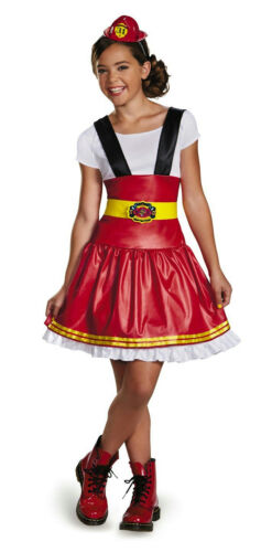 Disguise Dress Up Dolls Fire Girl Child Girls Firefighter Costume Large 10-12