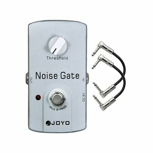 joyo jf 31 noise gate noise reduction gate guitar effect pedal w 2 patch cables ebay. Black Bedroom Furniture Sets. Home Design Ideas