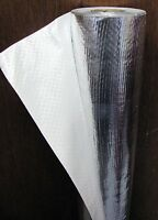 2'x50' Solid White Radiant Barrier Solar Attic Foil Reflective Insulation Shield