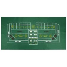 "Craps Dice Green Casino Gaming Table Felt Layout, 36"" x 72"""