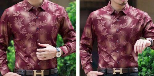 Social Long Sleeve Maple Leaf Designer Shirt Men Slim Fit Vintage Fashion Jersey