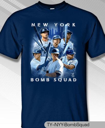 New York Yankees MLBPA NY Bomb Squad Youth Boys Cotton Tee Shirt Navy