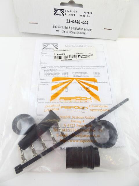ASPÖCK 51305029 Verschraubungssortiment Bajonett Verbinder 5pol Buchse -NEU-