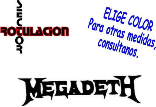 ref1577 Megadeth Music Heavy Metal ROCK BAND PEGATINA VINILO STICKER ADHESIVO