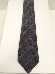 reputable site 45ff2 df5d3 Details about MISSONI UOMO MENS MULTI COLOR STRIPE AND PAISLEY PRINT SILK  TIE