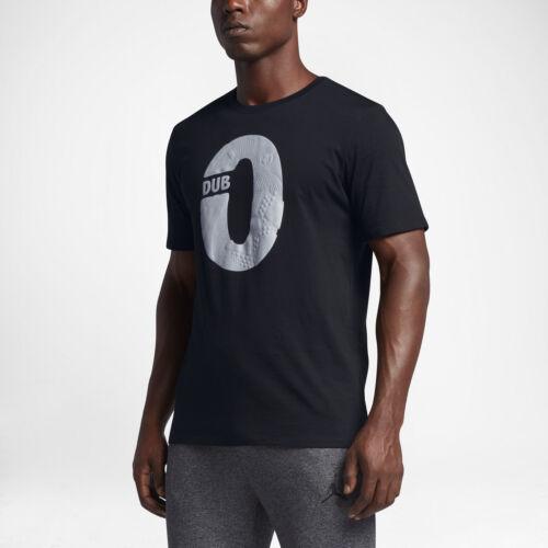 BLACK//BLACK!! NEW 801586 010 Men/'s JORDAN DUB ZERO 1 T-Shirt!