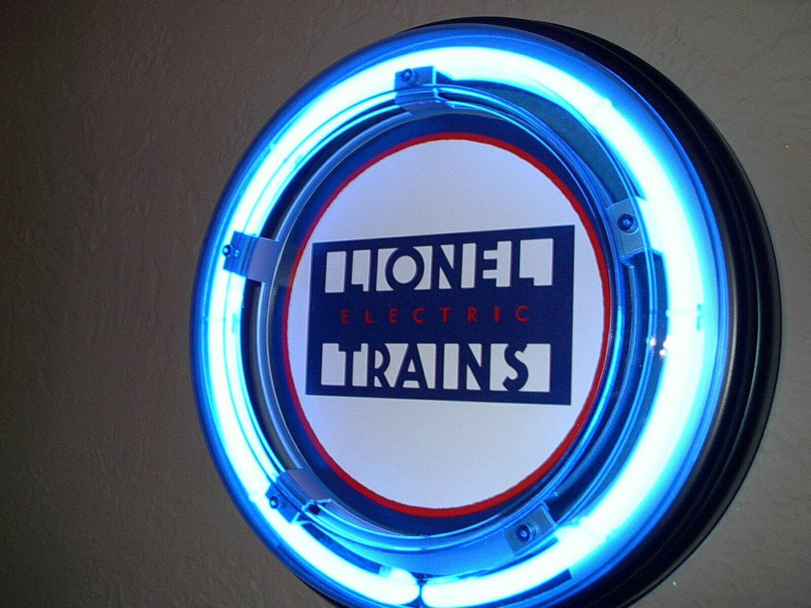 Lionel Trains Toy Store Adgreenising Man Cave bluee Neon Wall Sign