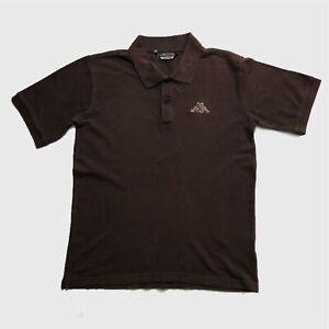 Mens-Vintage-Kappa-Polo-Shirt-Medium-Brown-Short-Sleeve