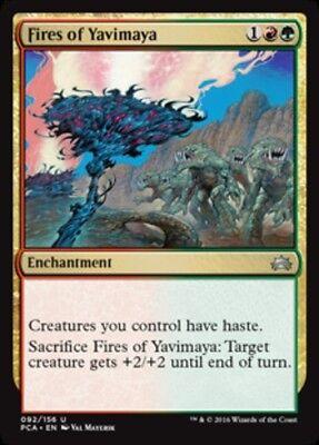 4x Fires of Yavimaya NM-Mint English Planechase Anthology MTG Magic