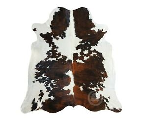 New Cowhide Rug Tricolor 6 X8 Cow Skin