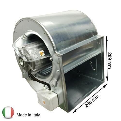 Ventilatore centrifugo DD 10//8-550 Watt monofase aspiratore 1 Velocità cappa