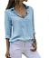 Women-039-s-Chiffon-Long-Sleeve-V-Neck-Blouses-Tops-Button-Down-Business-Blouse thumbnail 12