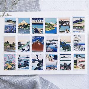 Mini-Japanese-Ukiyoe-Landscape-illustration-Scrapbooking-Stickers-Decorative