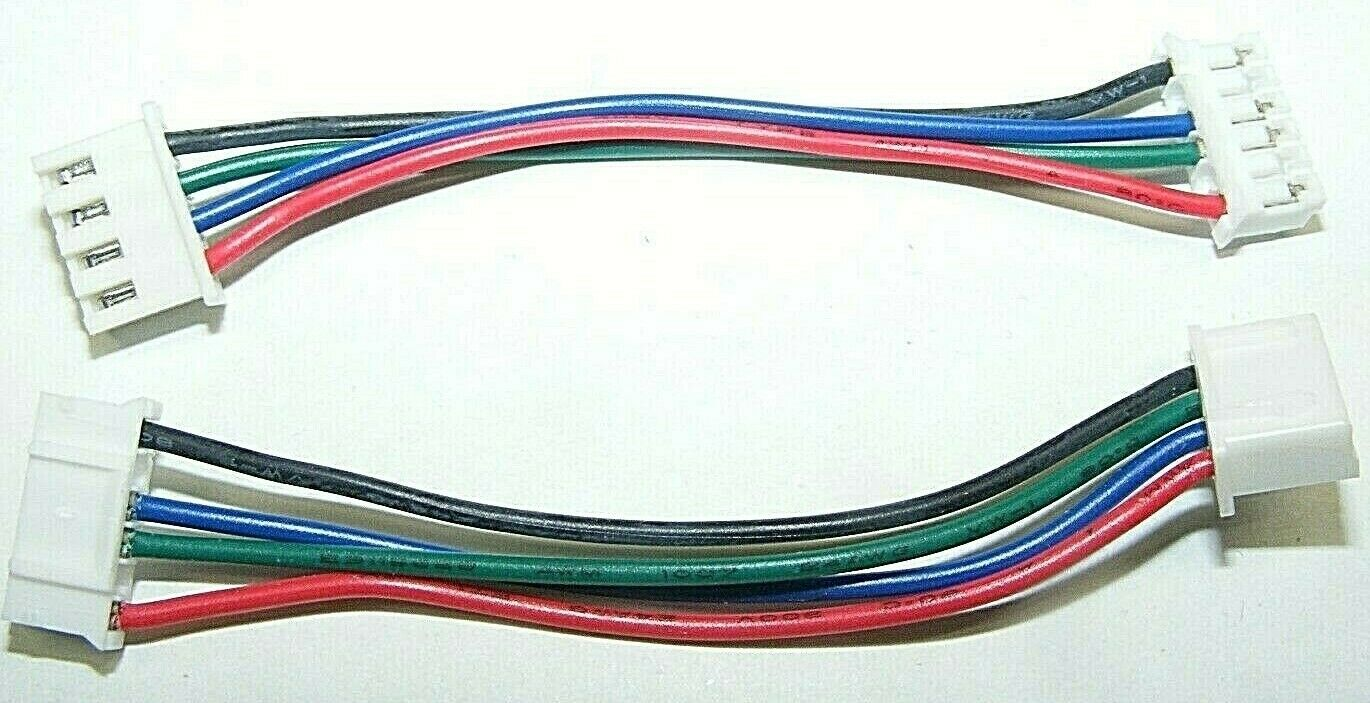 LOT10 SHORT JUMPER MOTOR CABLE 75MM RED BLU GRN BLK 6 PIN2.0 4 PIN XH2.54 USA 3D