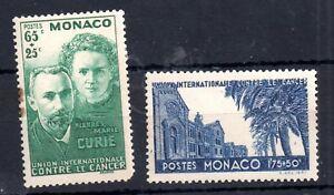 Monaco-1938-Curie-Anti-Cancer-SG172-173-MNH-slight-fault-WS11168