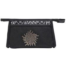 Supernatural Anti-Possession Symbol Metal Badge Cosmetic Makeup Bag Rare NWT!