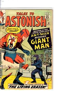 Marvel-TALES-TO-ASTONISH-49-Pym-1st-GIANT-MAN-AVENGERS-good-condition