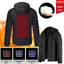 Herren Damen Beheizbare Heizjacke Mantel Beheizte Winter Warm Hoodie Jacke T5C7