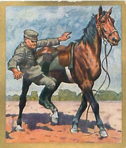 N-115-World-War-German-Riders-dropped-course-Reichswehr-Germany-WWI-30s-CHROMO