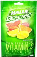 3 Pack Halls Defense Vitamin C Cough Drops 30 Drops Each on sale