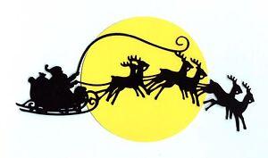 Santa-Claus-Die-Cuts-Santa-in-Sleigh-Over-Moon-10-034-x-5-034-1-Set
